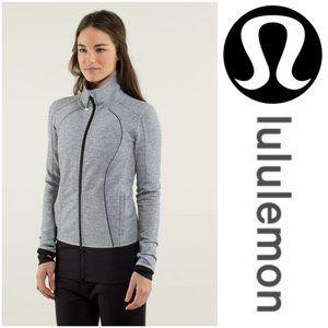Lululemon Nice Asana Jacket Heathered Herringbone